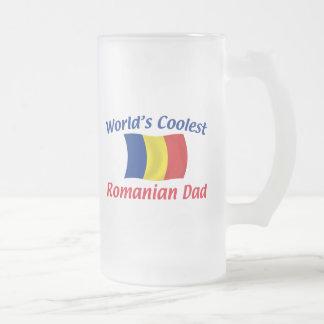 El papá rumano más fresco taza de cristal
