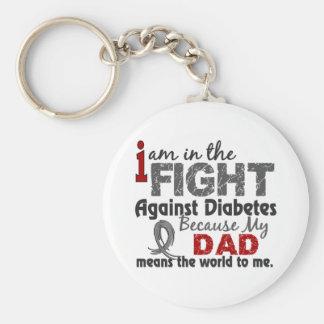 El papá significa el mundo a mí diabetes llavero redondo tipo pin