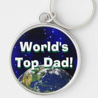 ¡El papá superior del mundo! Llavero