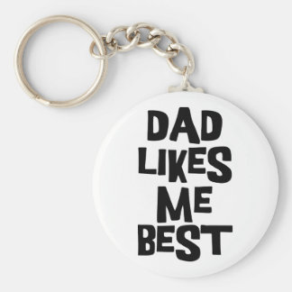 El papá tiene gusto de mí mejor llavero redondo tipo pin
