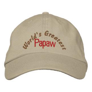 El Papaw más grande del mundo Gorras De Béisbol Bordadas