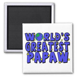 El Papaw más grande del mundo Imán Cuadrado
