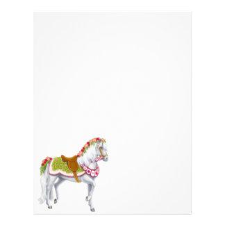 El papel con membrete color de rosa del caballo membrete