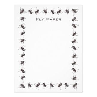 El papel con membrete de papel de la mosca con el  membrete personalizado