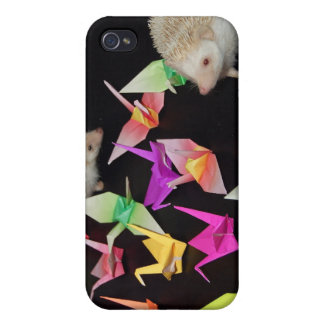 El papel Cranes la caja del teléfono del erizo iPhone 4 Protector