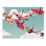 El papel Cranes la postal