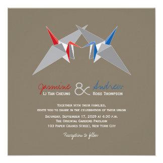 El papel Cranes Origami que el boda elegante orien Anuncios