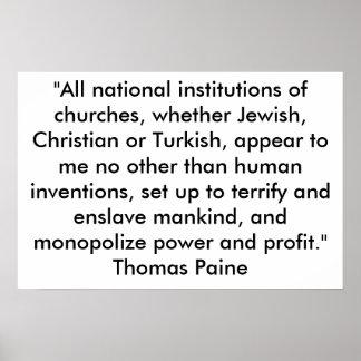 El papel de iglesias posters