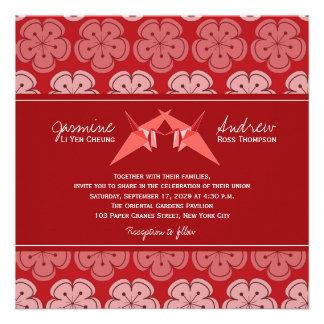 El papel doble de Origami Cranes el boda de Sakura Anuncios Personalizados