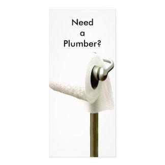 ¿el papel higiénico, necesita a un fontanero? tarjetas publicitarias