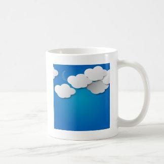 El papel se nubla el fondo taza de café