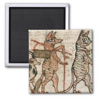 El papiro satírico imán cuadrado