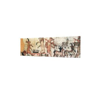 El papiro satírico lona envuelta para galerías