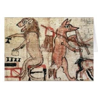 El papiro satírico tarjeta