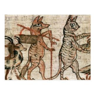 El papiro satírico postales