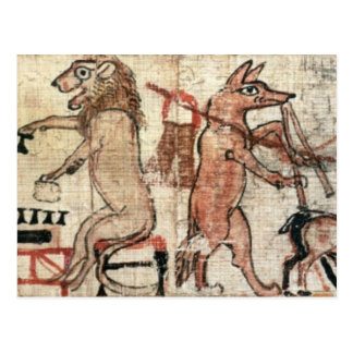 El papiro satírico tarjetas postales