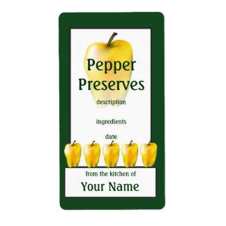 El paprika Amarillo preserva la etiqueta de enlata Etiqueta De Envío