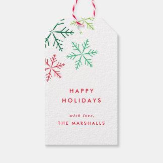 El paquete de las etiquetas del regalo de etiquetas para regalos