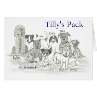 El paquete de Tilly Tarjeta De Felicitación