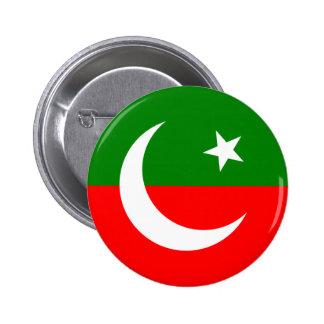 el Paquistán Tehreek e Insaf, Paquistán Pin Redondo De 2 Pulgadas