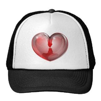 El par hace frente al corazón gorra