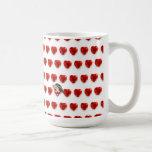 El par retro sea tarjeta del día de San Valentín d Taza De Café