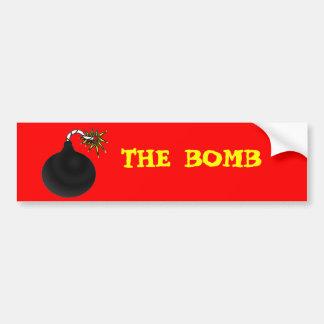 El parachoque de la bomba pegatina para auto