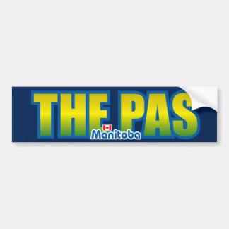 El parachoque del Pas Etiqueta De Parachoque
