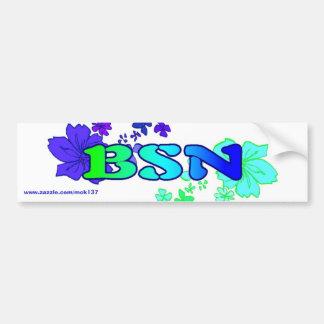 El parachoque floral de la ropa de BSN Bodysurfing Pegatina Para Auto
