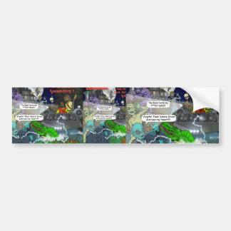 El parachoque intergaláctico Sticke de los vampiro Etiqueta De Parachoque