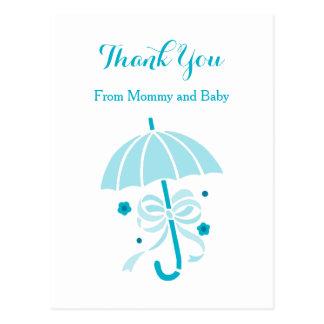 El paraguas de la aguamarina y la fiesta de tarjeta postal