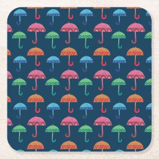 El paraguas de lujo posavasos desechable cuadrado