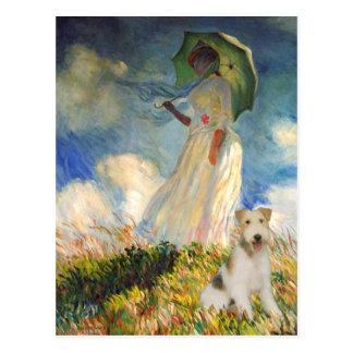 El paraguas - fox terrier del alambre (m) postales