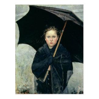 El paraguas por la postal de Marie Bashkirtseff
