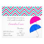 El paraguas rosado y del azul de los gemelos asper