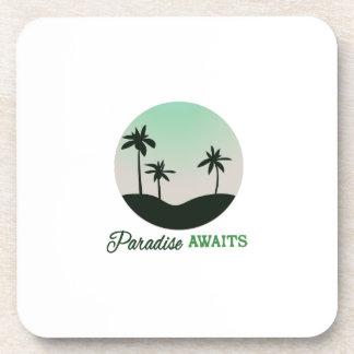 El paraíso aguarda posavasos de bebidas