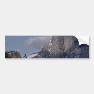 El paraíso de los escaladores de roca pegatina de parachoque
