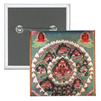 El paraíso de Shambhala, bandera tibetana Pin