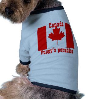 El paraíso del perrito de Canadá Camisa De Perro