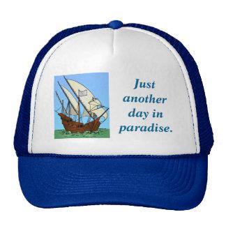 El paraíso del pirata en el mar gorro de camionero