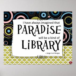 El paraíso es una biblioteca póster