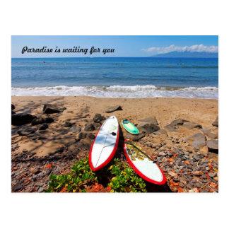 El paraíso le está esperando postales
