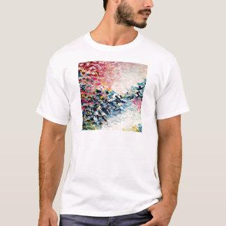 El PARAÍSO SOÑA la pintura abstracta colorida Playera