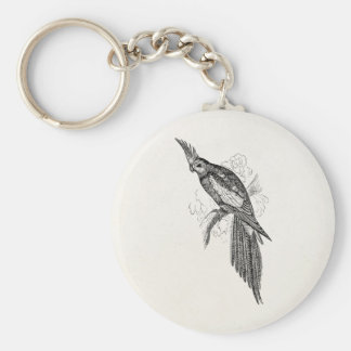El Parakeet de lujo del vintage repite Llaveros Personalizados