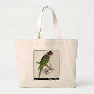 El Parakeet encapuchado de Edward Lear Bolsas Lienzo