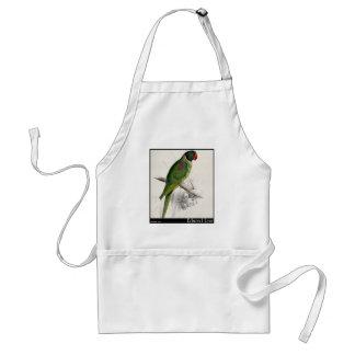 El Parakeet encapuchado de Edward Lear Delantal