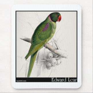 El Parakeet encapuchado de Edward Lear Alfombrilla De Ratón