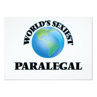 """El Paralegal más atractivo del mundo Invitación 5"""" X 7"""""""