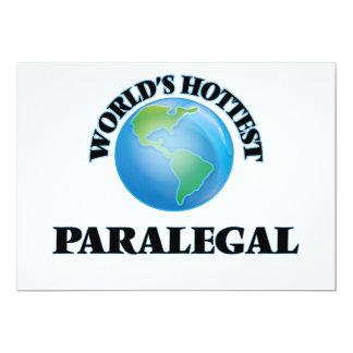 """El Paralegal más caliente del mundo Invitación 5"""" X 7"""""""