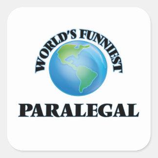 El Paralegal más divertido del mundo Pegatina Cuadrada